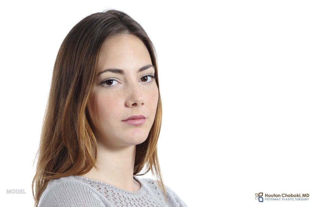 Blog post - model resting bitch face anger serious